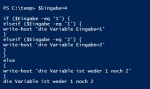 PowerShell if und switch