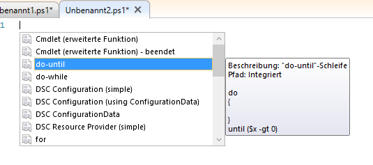 Powershell ISE - Snippet