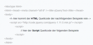 Preview jQuery Beispiele