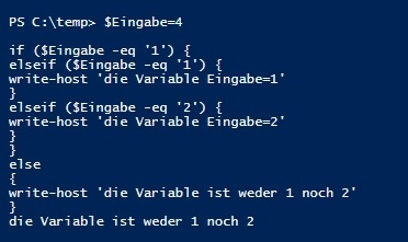 Preview PowerShell if und switch
