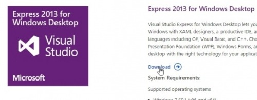 Preview Visual Studio Express Installation